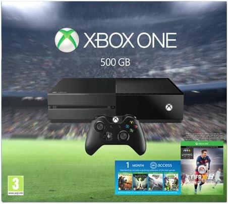 Microsoft Xbox One 500GB + FIFA 16 + EA Access - videoconsolas ...