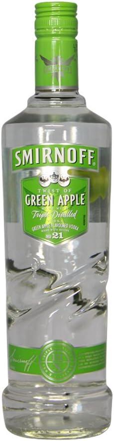 Smirnoff Vodka Green Apple 1 Litre (Manzana)