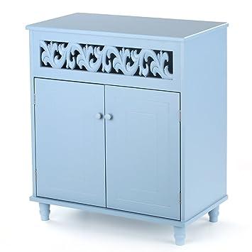 Pleasant Ikayaa Bathroom Floor Cabinet Double Door Storage Cabinet Download Free Architecture Designs Licukmadebymaigaardcom
