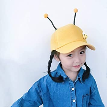 Spring Sun hat Adjustable XF Childrens Sun Hat Color : Yellow Summer and Autumn Childrens Baseball Cap to Choose from Bees Trendy Personality