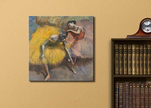 Deux danseuses jaunes etroses by Edgar Degas