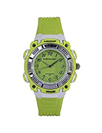 Dunlop Watch Analog WR50M Rubber Strap DUN243 (Apple Green)