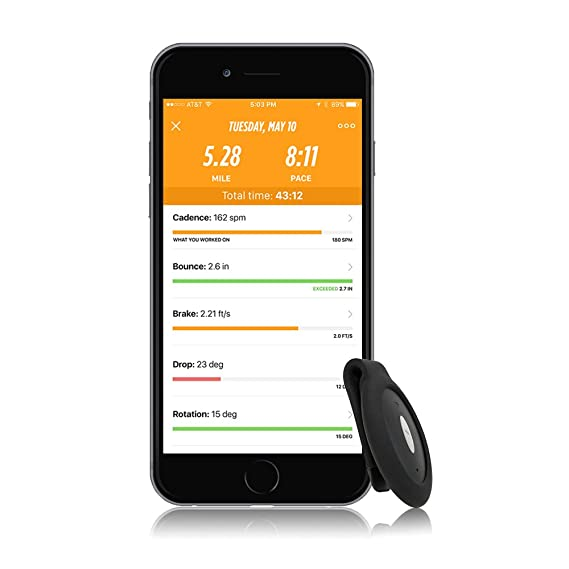 251bc6e31 Amazon.com: Lumo Run - the Running Coach for Every Runner (iPhone 5S or  newer only): Cell Phones & Accessories