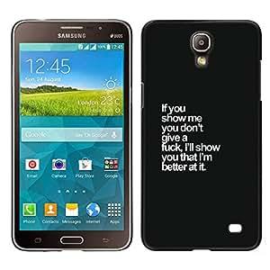 A-type Arte & diseño plástico duro Fundas Cover Cubre Hard Case Cover para Samsung Galaxy Mega 2 (I Don'T Give A Care Black Text Funny White)