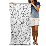 Vintage Bicycles Background Quick-drying Pool Beach Towel Travel Bath Towel For Adults