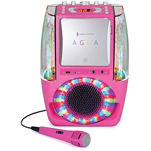 Singing Machine SML605 Karaoke System with LED Disco Lights - Pink (No Dancing Water) from Singing Machine