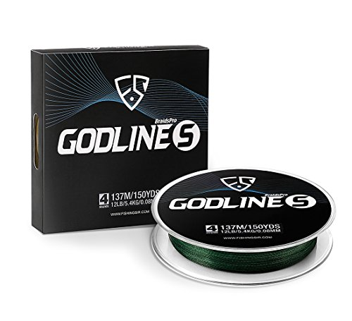 FISHINGSIR Godline S Improved Braided Fishing Line Abrasion Resistant PE SuperLine,150Yds 329Yds 547Yds 1094Yds