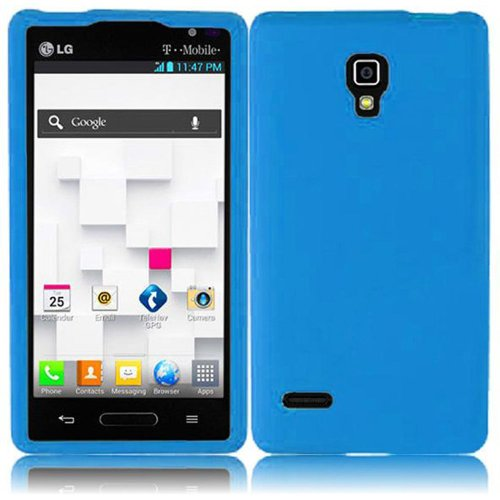 Natural Blue Soft Premium Silicone Case Cover Skin Protector for LG Optimus L9 P769 MS769 (by Metro PCS / T-Mobile) with Free Gift Reliable Accessory Pen
