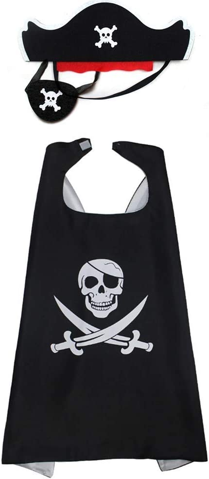 Capa Pirata,Disfraz de Pirata para Niños 1Juego Cape Cloak ...
