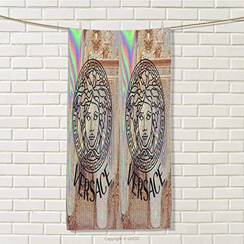 DESPKON-HOME Shower Towel Versace Logo Hand Towels for Bathroom W 8