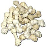 Brand New 100 count 2.5″ Natural Rawhide Mini Bones Item #200, My Pet Supplies