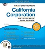 How to Form Your Own California Corporation, Anthony Mancuso, 1413305725