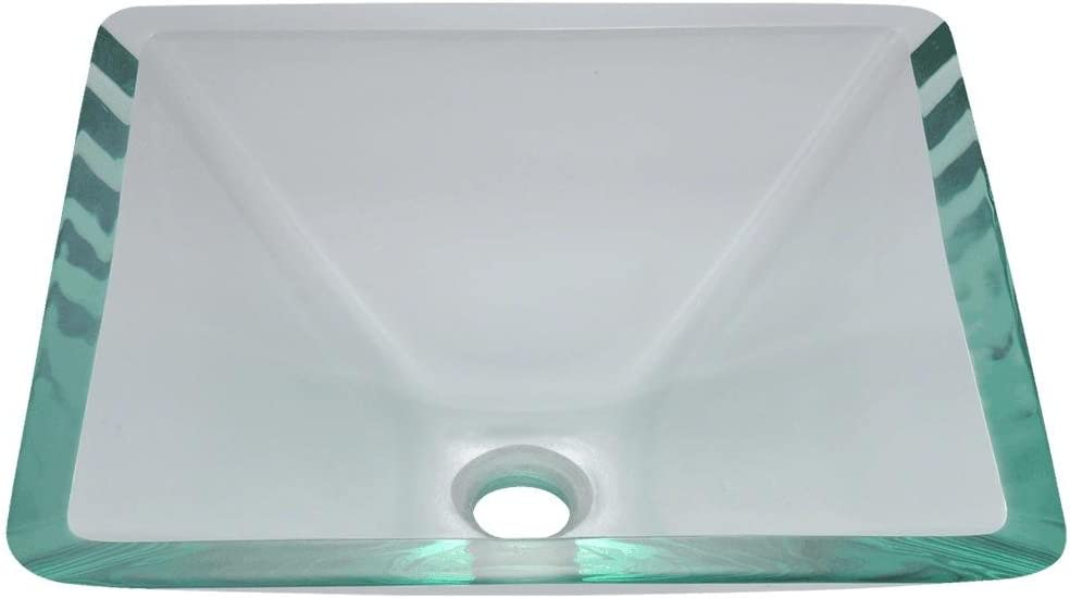 603 Crystal Glass Vessel Sink, Sink Only, Sink Only