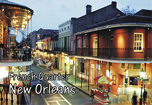 French Quarter, New Orleans, Louisiana, Mardi Gras, Souvenir Magnet 2 x 3 Fridge Photo Magnet]()