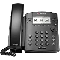 POLYCOM 2200-46135-025 VVX 300 6-line Desktop Phone with HD Voice (PoE without Power Su