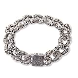 NOVICA .925 Sterling Silver Chain Bracelet, 7.75'' 'Suka Suka'