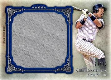 2013 Topps Five Star Jumbo Relics #FSJJR-CG Curtis Granderson Game Worn Jersey Baseball Card - Only 30 made!