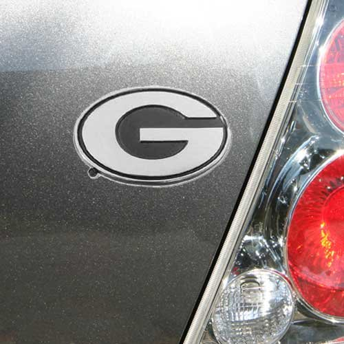 University of Georgia Bulldogs ''G'' Logo Chrome Plated Premium Metal Car Truck Motorcycle with NCAA College Emblem by Football Fanatics