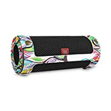 Fintie JBL Flip 4 Case - Premium PU Leather Carrying Sleeve Protective Cover with Carabiner for JBL Flip4 Waterproof Portable Bluetooth Speaker, Love Tree