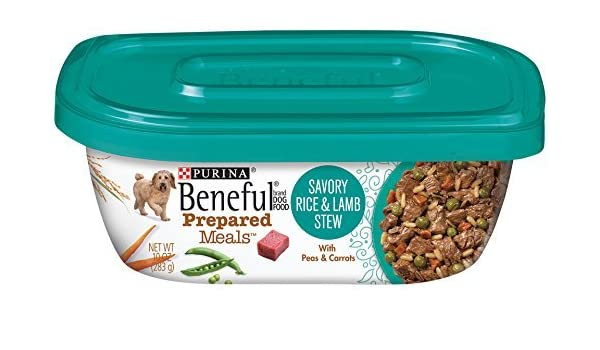 Beneful Wet Dog Food, Prepared Meals, Savory Rice and Lamb Stew, 10-Ounce Tub by Purina Beneful: Pet Supplies: Amazon.com