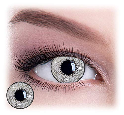 Womens Pair Eye Color Change Eye Accessories Mystic Silver Glimmer]()