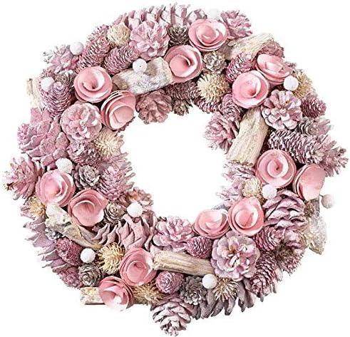 /Ø 34 cm Magnifique couronne de No/ël//couronne de pommes de pin Rose No/ël//D/écoration de No/ël Couronne de No/ël//Couronne de No/ël//Couronne de No/ël//Couronne de table