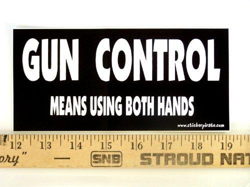 Magnet Gun Control Means Using Both Hands Magnetic Bumper Sticker