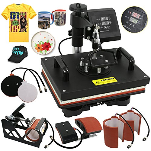 Super Deal PRO 6 in 1 Combo Heat Press Machine T-shirt Hat Cap Mug Plate Digital Transfer Sublimation Machine (6 in ()