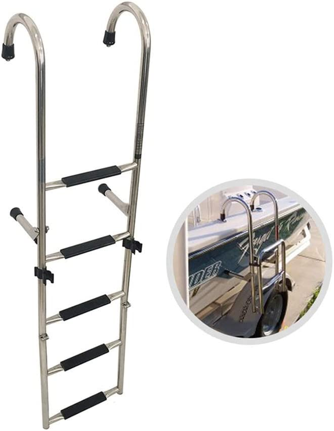 Escaleras para Barcos Escalera Telescópica para Barco de Muelle Marino, Escalera Plegable para Barco con Pontón con Escalón Extra Ancho, para Interior Yate Piscina (Color : 5 Step): Amazon.es: Deportes y aire