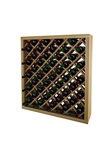 Unstained Diamond Bin (WineMaker Series Wine Rack - Individual Diamond Bin - 3 Ft - Pine Unstained)