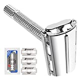 Double Edge Safety Razor, Oak Leaf Butterfly Open Men's Shaving Razor...