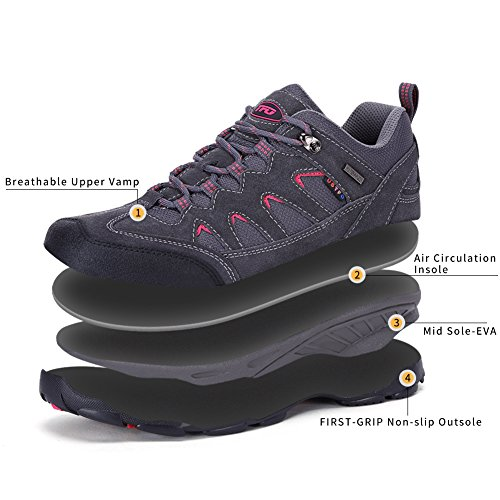 The Low Breathable Absorb First Outdoor Grey Shock Hiking Waterproof Women's Shoes IOIrS