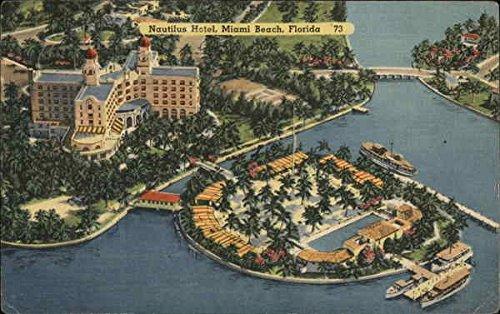 (Aerial view of Nautilus Hotel Miami Beach, Florida Original Vintage Postcard)