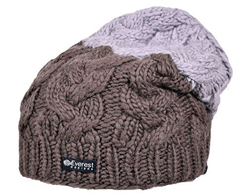 Everest Designs F15801 Milano Floppy Beanie, Brown, One Size