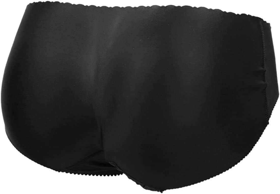 uxcell Black Size XL Low Waist Hips Lifter Hip Enhancer Padded Underwear Panty Shapewear for Women