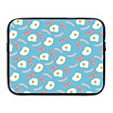 ZGZGZ Fried Eggs Bacon Ham Waterproof Portable Laptop Computer Sleeves 15 Inch