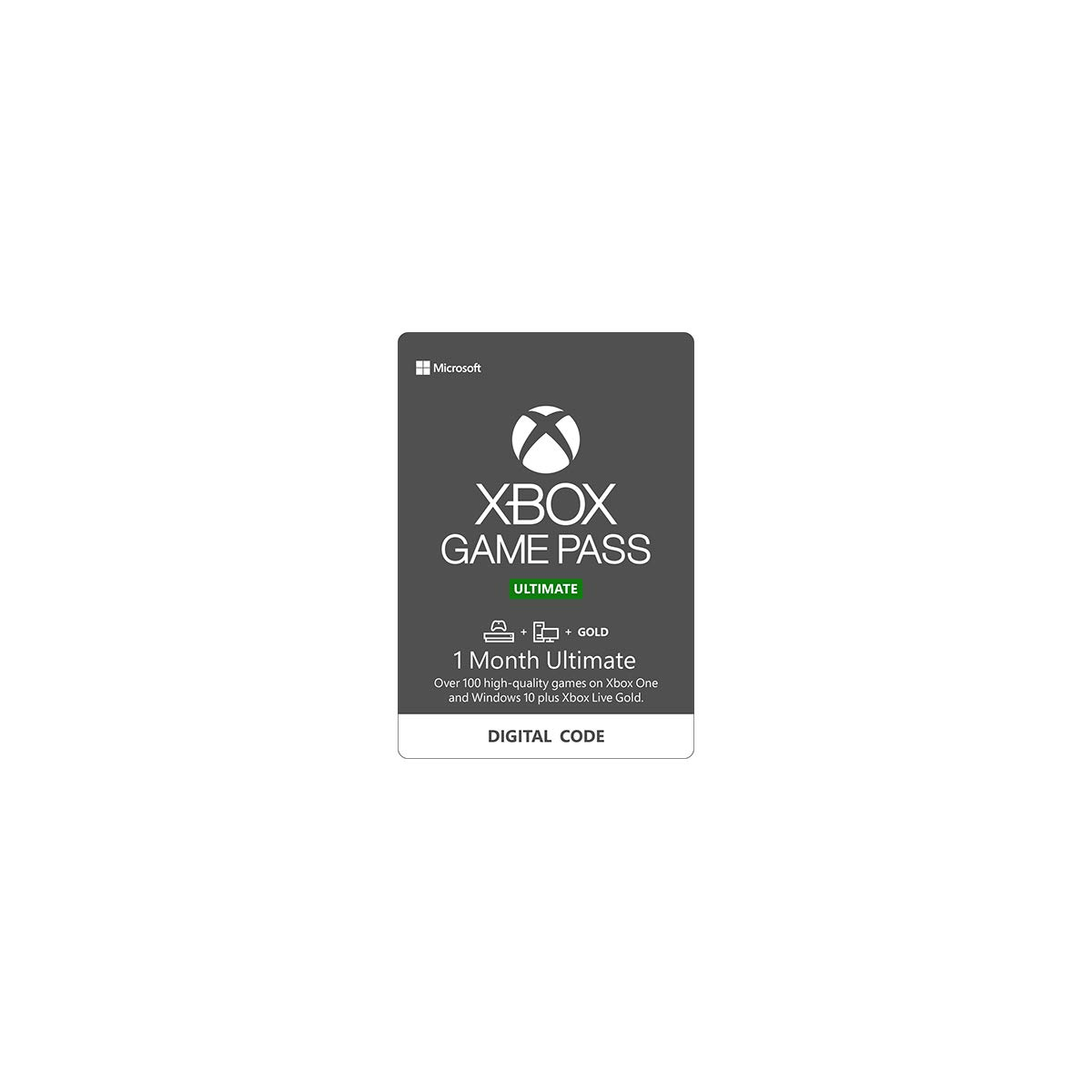 Xbox Game Pass Ultimate - 1 Month Membership - Xbox One [Digital Code] by Microsoft