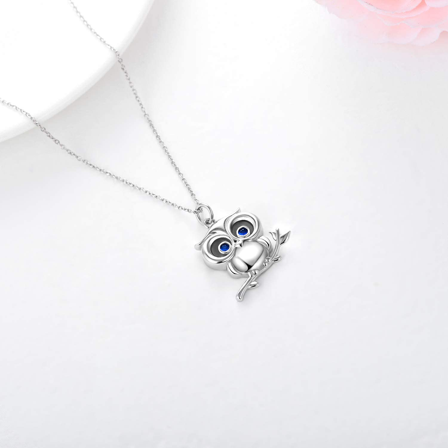 Small Owl Necklace Cottagecore Owl Lovers Gift Dainty Owl Always Love You Pun Necklace Gold Heart Bird Lovers Gift Animal Lover Jewelry