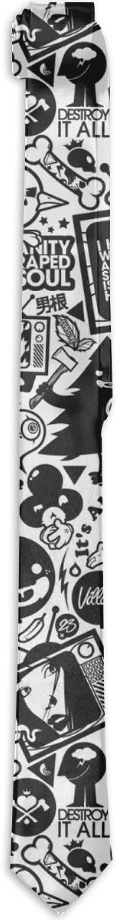 Cosicstore Accesorios de disfraz retro negro Trippy Art corbatas ...