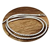 Epinki 925 Sterling Silver Women Men Necklace Snake Chain 3MM-A237