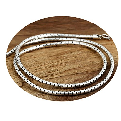 Epinki 925 Sterling Silver Women Men Necklace Snake Chain 3MM-A237 by Epinki