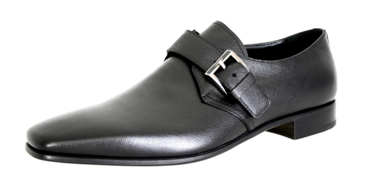 Prada Men's 2EB117 053 F0002 Black Saffiano Leather Business Shoes EU 11 (45) / US 12 by Prada