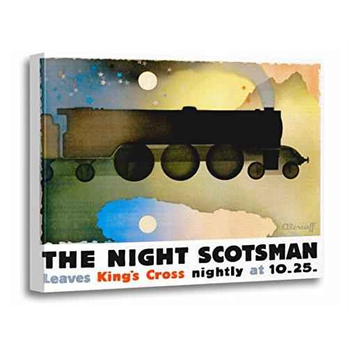 (TORASS Canvas Wall Art Print Vintage The Night Scotsman Travel Retro Ads Moffa Artwork for Home Decor 12