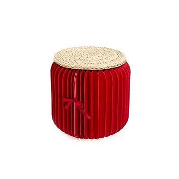 Taburetes de papel Kraft plegables, silla redonda de muebles ...