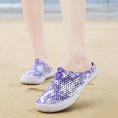 Sandales Pantoufles Chaussures Violet Amants Sabots Chaussons Occasionnels Femmes Jardin De D'été Yogogo Plage Piscine 0wEnqg