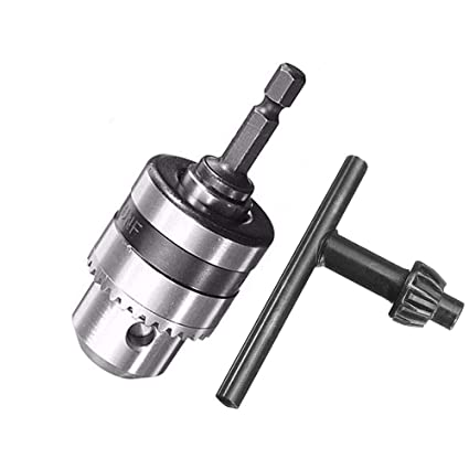 "Drill Chuck 0.6-6mm Electric Thread 3//8-24UNF 1//4/""Hex Shank Power Kit Adaptor"
