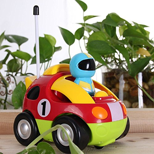 Rabing RC Cartoon Race Car with Action Figure Radio Control Toy with Music Best Gift for Toddlers Kids