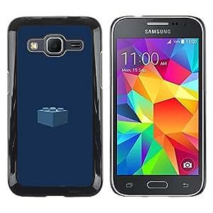 Be Good Phone Accessory // Dura Cáscara cubierta Protectora Caso Carcasa Funda de Protección para Samsung Galaxy Core Prime SM-G360 // Piece Kids Navy Blue