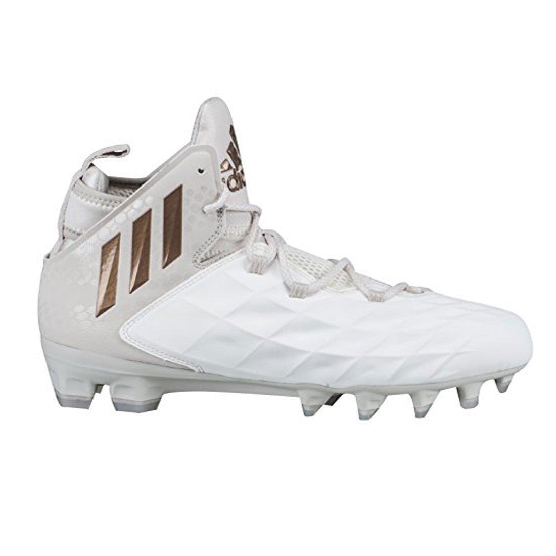 Adidas Freak Lax Mid Lacrosse Cleats-Chalk/White-11.0