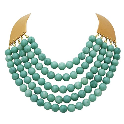 Rosemarie Collections Women's Multi Strand Beaded Collar Necklace (Turquoise - Macys Ma In Stores